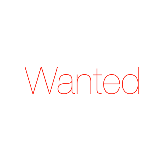 wanted advert sign